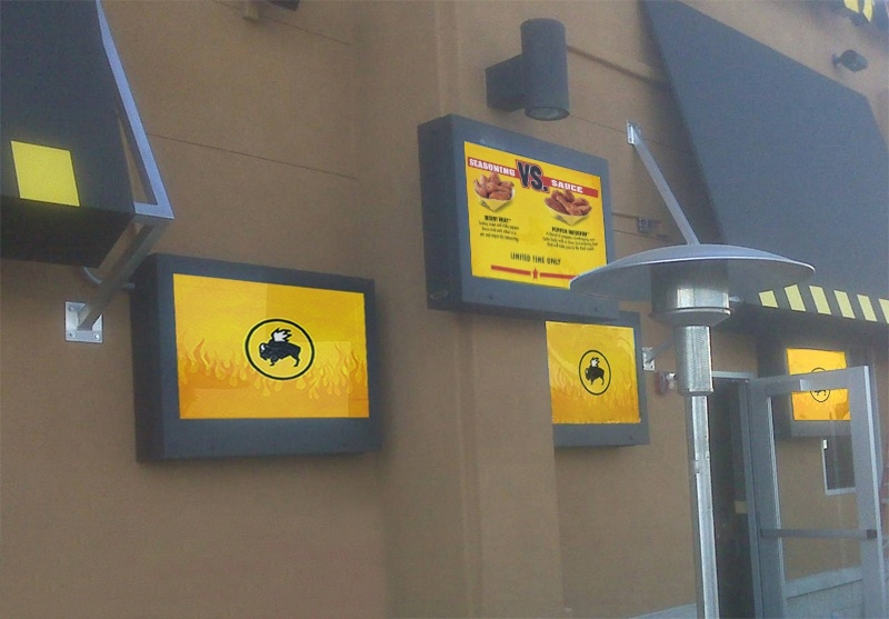 Outdoor LCD Enclosures at Buffalo Wild Wings
