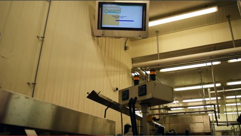 Stainless Steel TV Enclosure installed in a dairy factory.