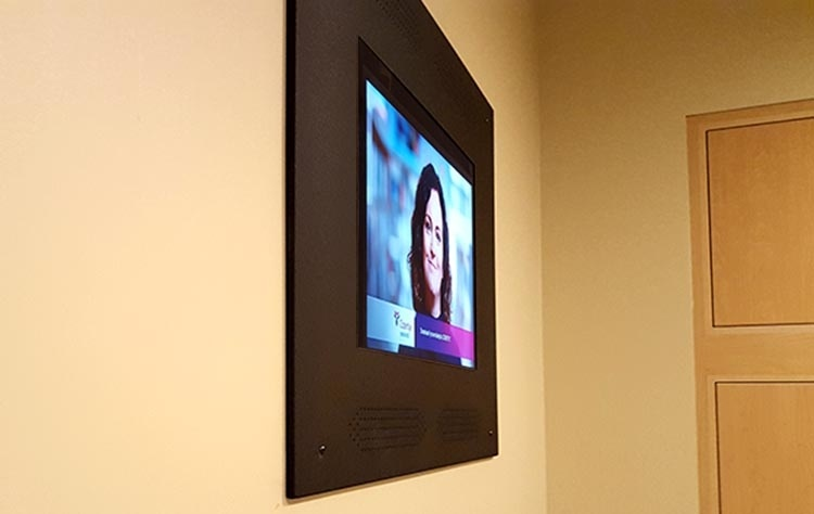 Hospital Installation of a Recessed TV Enclosure