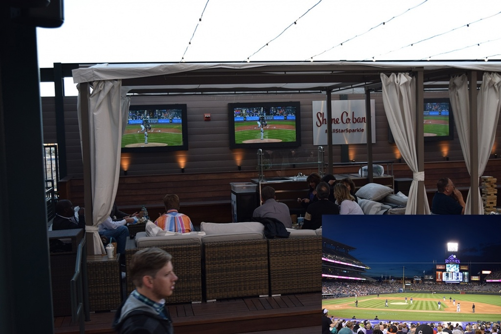 Outdoor TV Enclosures at Coors Field.
