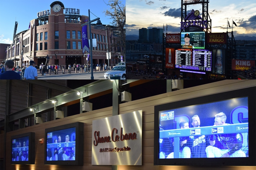 LCD TV Enclosures installed at Coors Field, Home of the Rockies.