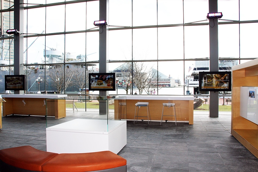 TV Enclosures at an East coast visitor center.