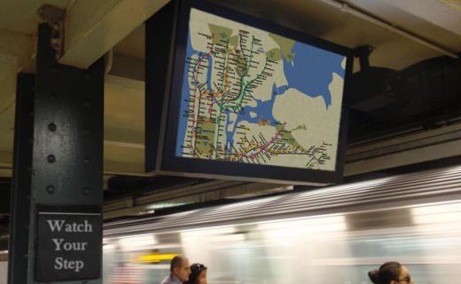 LCD Enclosure in NYC subway