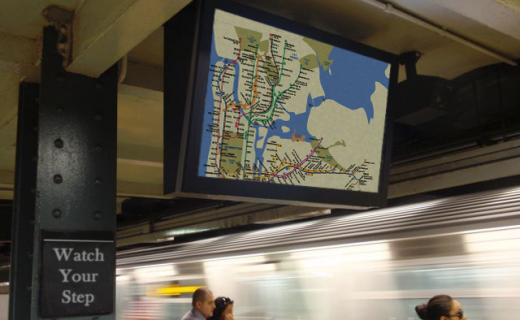LCD Enclosure in NYC subway